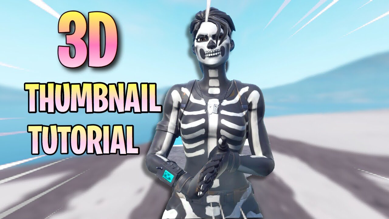 3d Fortnite Speedart Thumbnail Tutorial Ios Youtube