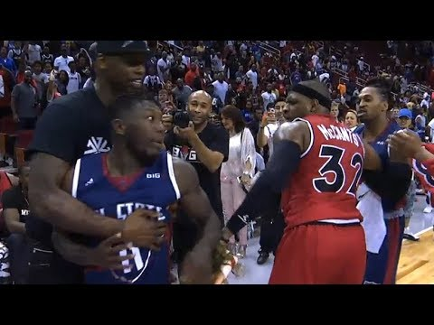 Nate Robinson & Rashad McCants Skirmish After Nate's Game-Winner