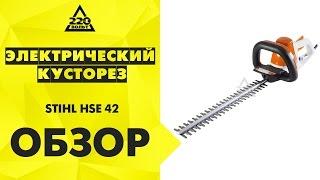 Обзор Электрический кусторез STIHL HSE 42