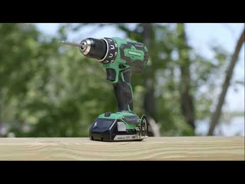18V Cordless Drill Kit with 2 Batteries and Charger | Metabo HPT DS18DBFL2E