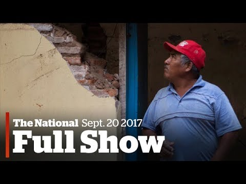 The National for September 20th: Mexico's child quake victims, Amazon HQ2, sleep quality