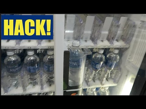 VENDING MACHINE HACK! GET FREE STUFF!! (WORKS!!)