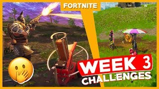 ALL WEEK 3 CHALLENGES + FREE ANIMAL! - Fortnite