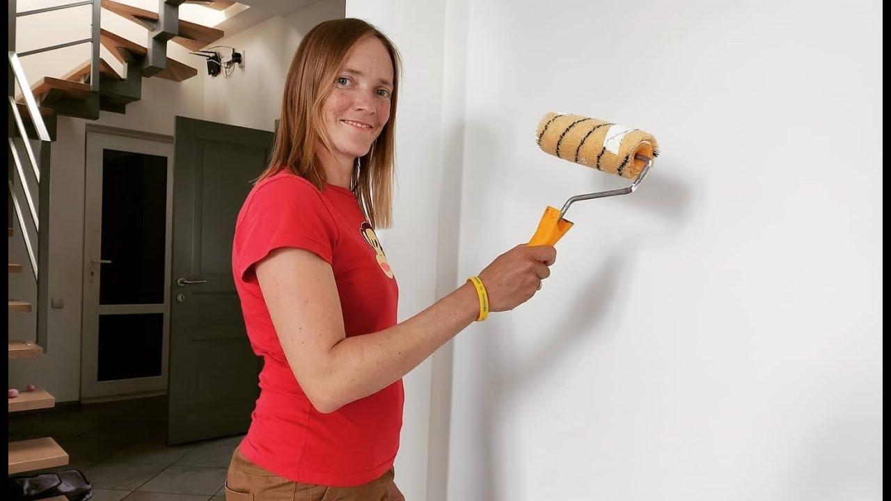 Покраска СТЕНЫ за 5 минут Как ПОКРАСИТЬ стену ЛЕГКО и ПРОСТО