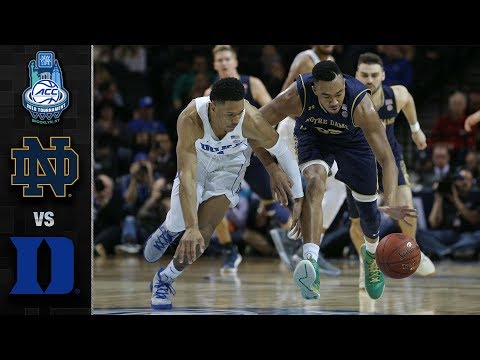 Notre Dame vs. Duke ACC Basketball Tournament Highlights (2018)