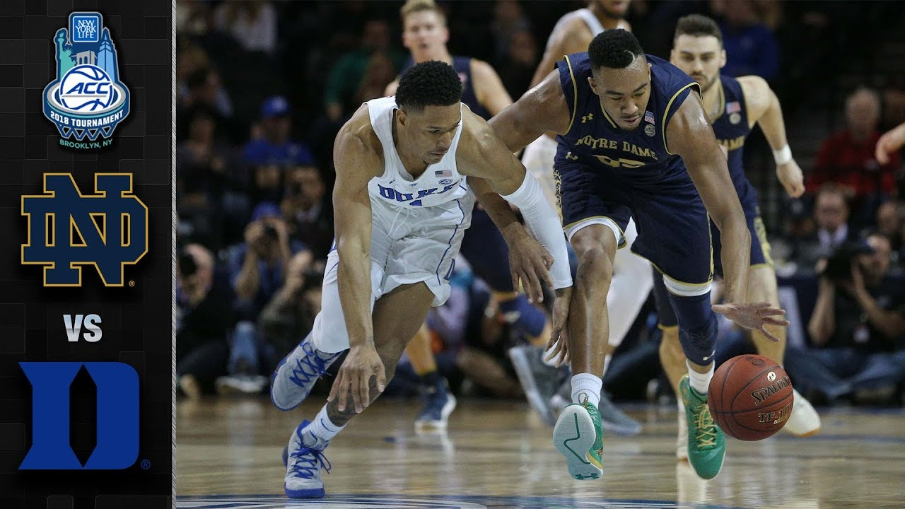 Notre Dame vs. Duke ACC Basketball Tournament Highlights ...