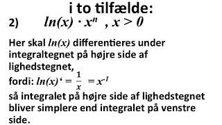 partiel integration eller integration ved substitution