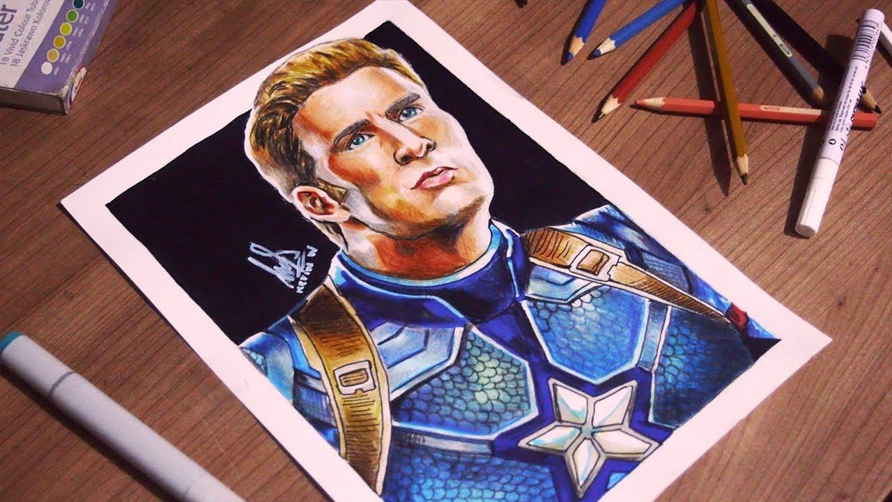 Drawing Steve Rogers Avengers End Game Chris Evans Kevdraw