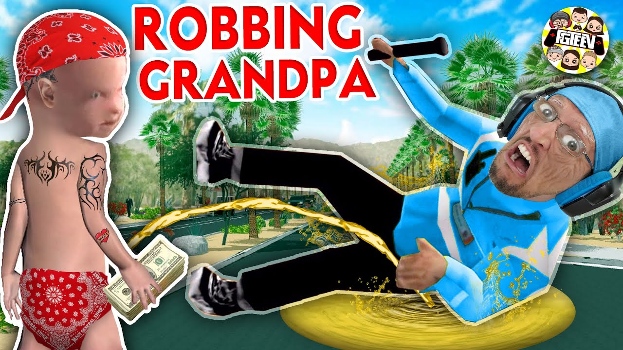 I ROBBED GRANDPA and Soaked Him in …. WHAT?  (FGTeeV Gangster Granny Weird Game)