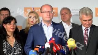 ČR - politika - ČSSD - volební štáb - Bohuslav Sobotka - Milan Chovanec