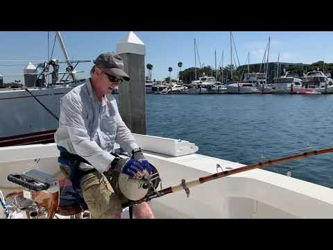 2019-09-18 Zane Grey Reel That Caught The First Thousand Pound Marlin In 1930.  Practice