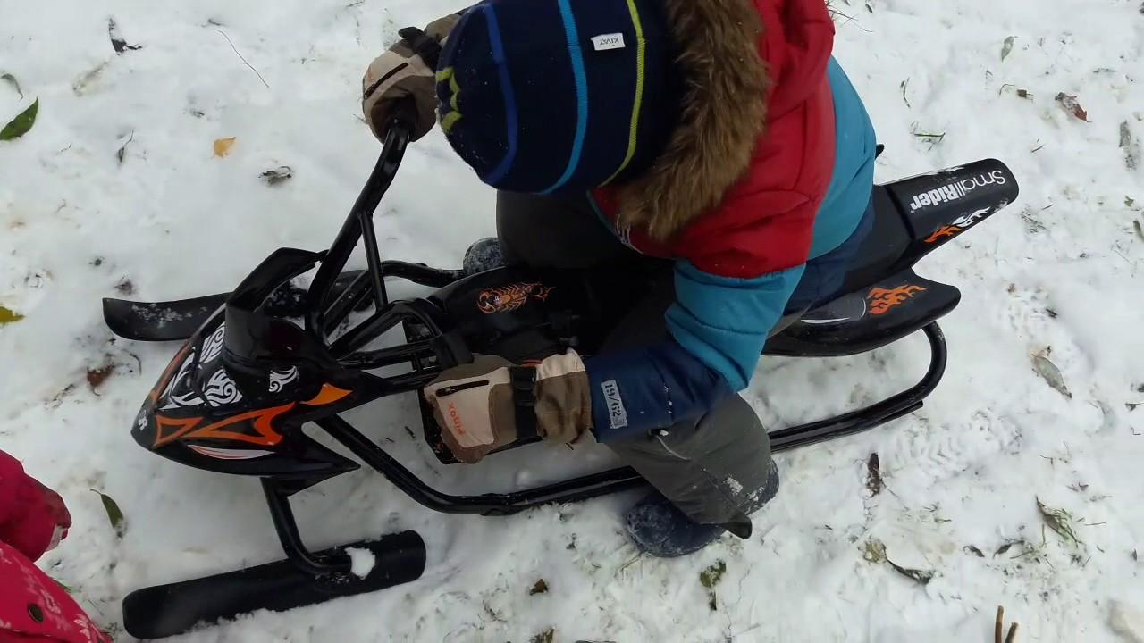 Снегокат-снегоход Small Rider Scorpion Duo, две лыжи спереди