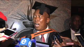 Malema speaks after his graduation