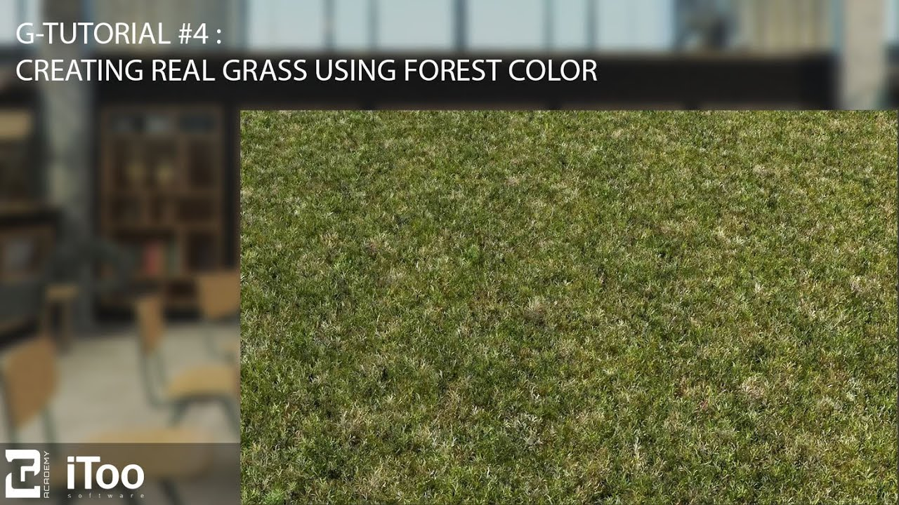 G-Tutorial #4 : How to create a realistic grass using forest color ...