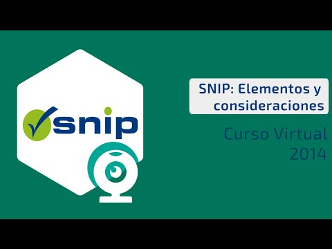 ¿Qué es el SNIP? Elementos y consideraciones   Curso virtual - Sesión 1