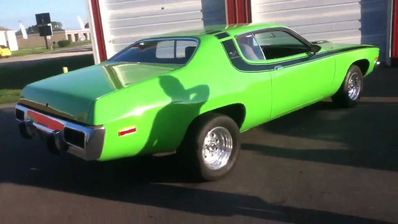 Cars That Start With J >> 73 Plymouth Roadrunner Start-up and Walk Around - YouTube