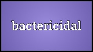 how do bactericidal antibiotics work