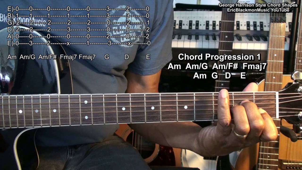 While My Guitar Gently Weeps Guitar Chord Shapes The Beatles