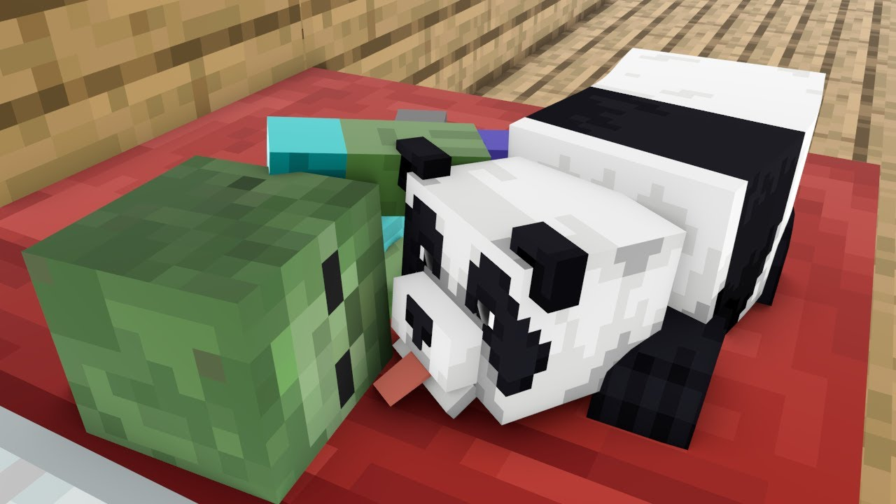 Monster School : PANDA AND BABY ZOMBIE LIFE - Minecraft Animation