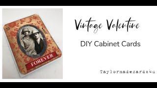 Vintage Valentine - DIY Cabinet Cards
