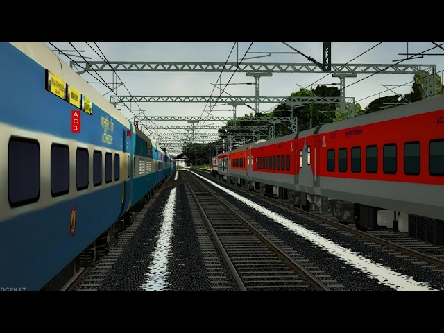 Mumbai Rajdhani Nonstop from Mumbai to Surat in MSTS Open Rails by