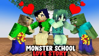 MONSTER SCHOOL LOVE STORY WITH BALDI - SAD AND LOVE STORY