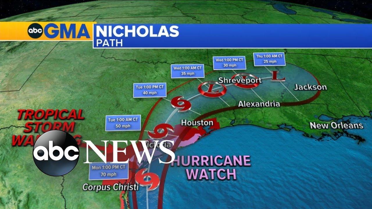 Tropical Depression Nicholas threatens Gulf Coast with flooding ...
