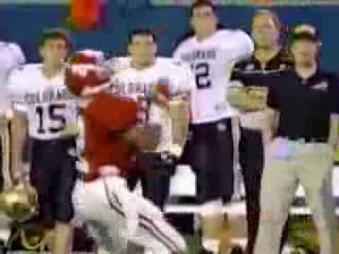 1991 Blockbuster Bowl David Palmer Punt Return TD