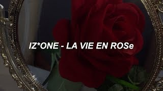 IZ*ONE (아이즈원) - 라비앙로즈 (La Vie en Rose) Easy Lyrics