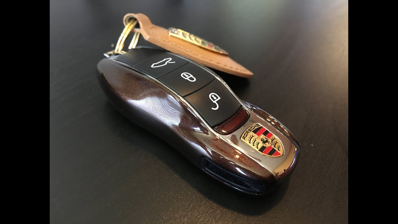 Porsche Key - Shell/Cover Replacement (Mahogany Metallic)