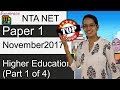 Expected Questions CBSE NET November 2017 Paper 1: Higher Education (Part 1 of 4)