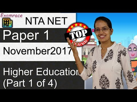 Expected Questions CBSE NET November 2017 Paper 1: Higher Education Set 1