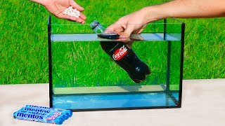 Experiment: Coca Cola with Mentos Under Water Reaction