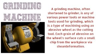 GRINDING MACHINE | TYPES | OPERATIONS