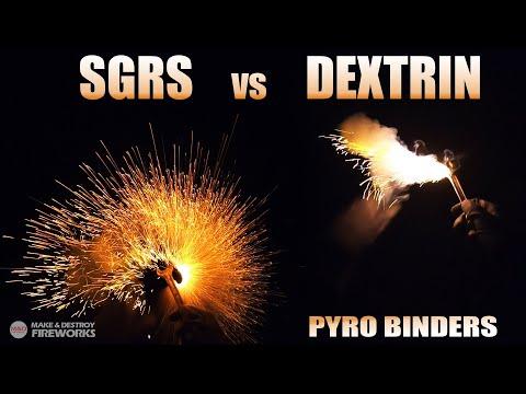 Download SGRS vs DEXTRIN in Firework Stars - Different Firework Binders Test