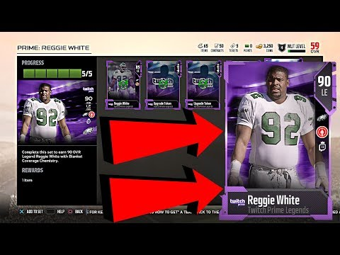 ALL STEPS: HOW TO GET 90 OVERALL REGGIE WHITE IN MADDEN 18 FREE!!! MADDEN 18 ULTIMATE TEAM