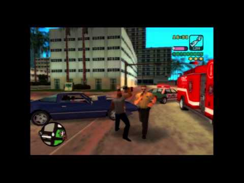 GTA Vice City Stories Gameplay 1- Ghost Firetruck And Bulletproof Cop Chase