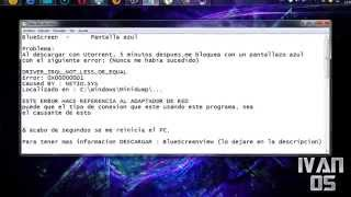 Solucion | Pantalla Azul [ DRIVER_IRQL_NOT_LESS_OR_EQUAL ] BY | NETIO.SYS