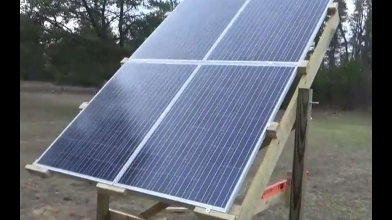 Repaired Water Heater Amp Built Adjustable Solar Panel Rack