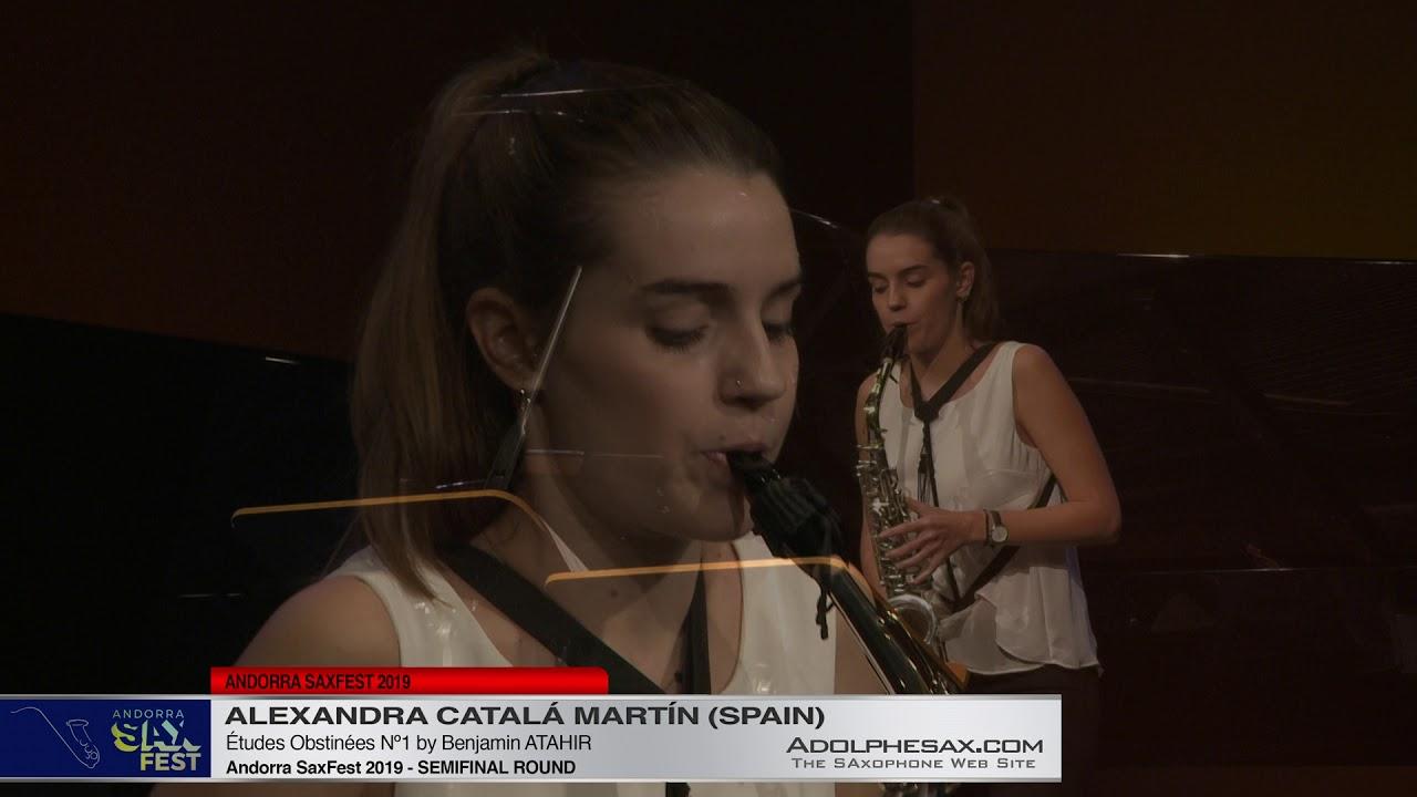 Andorra SaxFest 2019 Semifinal   Alexandra Catalá Martín   Études Obstinées Nº1 by Benjamin Atah