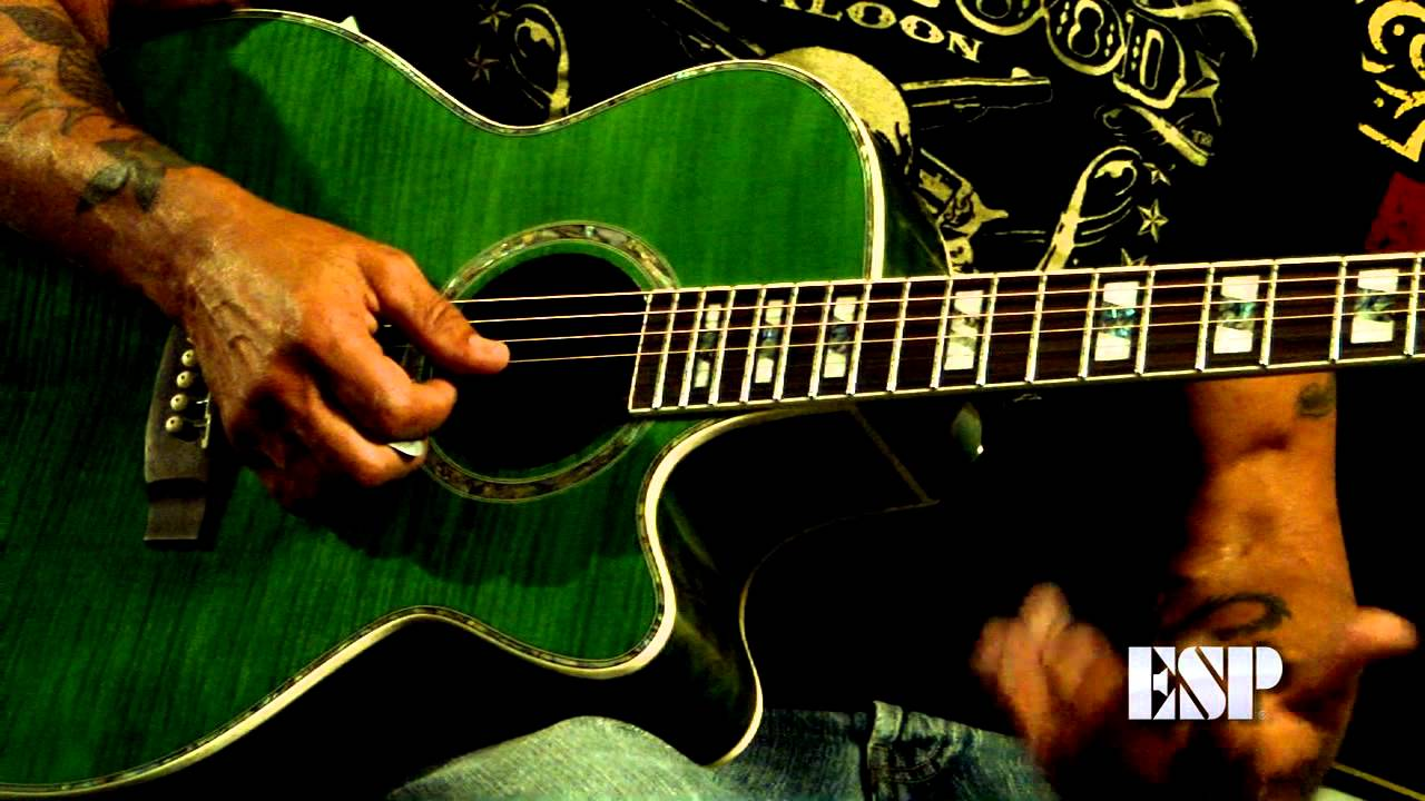 Esp Guitars George Lynch Demos The Ltd Xtone Ac 20e Acoustic Guitar