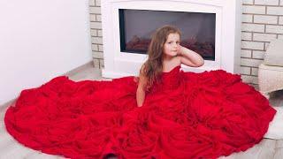 Шикарный детский комплект топ и юбка. Юбка с объемными розами. Розы из шифона#Eli-stor.com