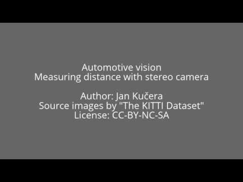 Automotive computer vision: 3D reconstruction & distance measurement with stereo camera #1