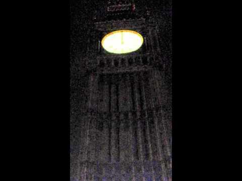 2013 Big Ben strikes midnight all hallows eve