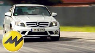 Repeat youtube video Tracktest Mercedes C 63 AMG Eine Mercedes-Limousine kann nic