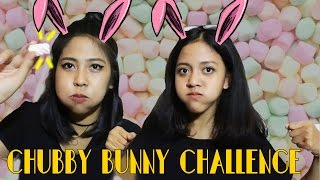 CHUBBY BUNNY CHALLENGE ( BAHASA - HEBOH ) - ft Vania Thufaila - Venna Violita