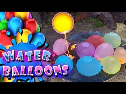 Molten Copper vs Water Balloons