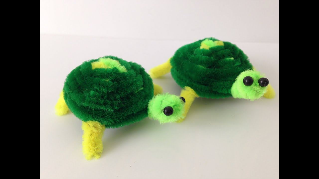 How To Make A Pipe Cleaner Turtle Pipe Cleaner Animals Youtube