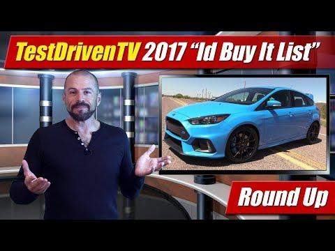 """TestDrivenTV 2017 """"Id Buy It"""" List"""