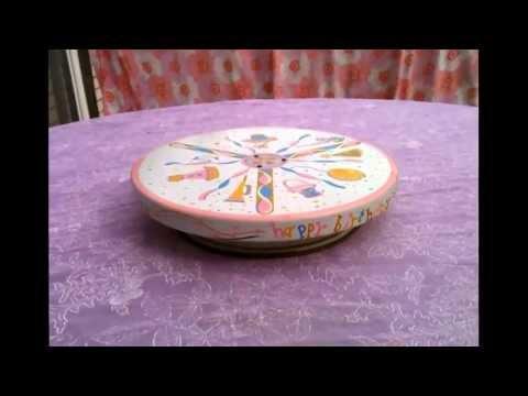 Happy birthday musical/revolving cake plate